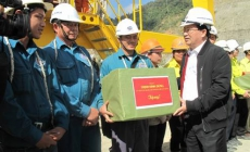 Expected completion Lai Chau hydropower plant one year earlier, benefiting nearly 5,000 billion Vietnam dong (from the E-Newspaper of Construction)
